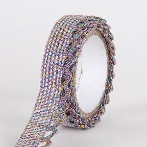 Fabric Decorative Tape, Glitter Lace, SKU: GL202