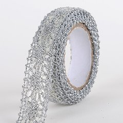 Fabric Decorative Tape, Glitter Lace, SKU: GL101