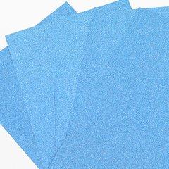 """Ultra Fine Glitter Sticky Paper, 6"""" x 9"""" x 5 Sheets, Sky Blue, SKU# GT-148B"""