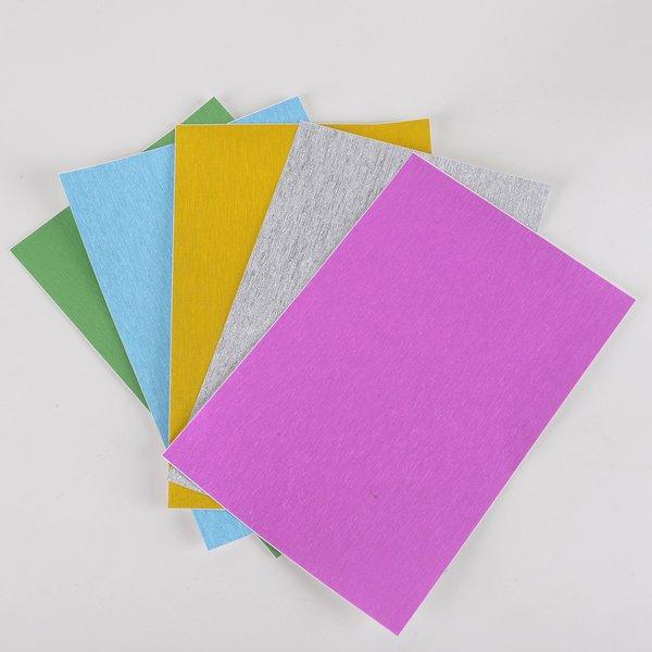 """Satin Glitter Sticky Paper, Satin Mix Pack(1), 6"""" x 9"""" x 5 sheets, 5 color, SKU# GTS-188"""