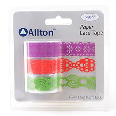 Paper Decorative Tape, Lace, SKU: TPB180031