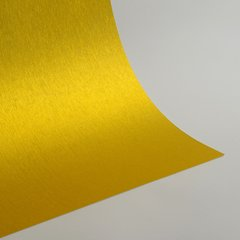 "Satin Glitter Sticky Paper, 6"" x 9"" x 5 sheets, Satin Golden Yellow, SKU# GTS-190"