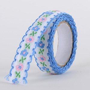 Fabric Decorative Tape, Embroidered, SKU: EM004