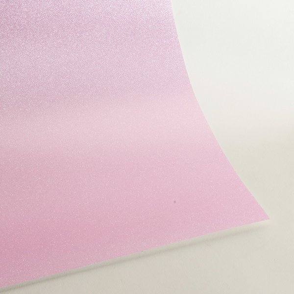 "Ultra Fine Glitter Card Stock, 12"" x 12"" x 3 sheets, Baby Pink, SKU# GC-1212020-3"