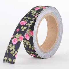 Fabric Decorative Tape, Flower, SKU: FL040