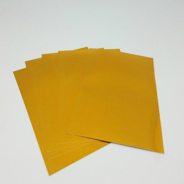 "Foil Sheet with Adhesive Back, 6"" x 9"" x 5 sheets, Gold SKU#: MFS-180G"