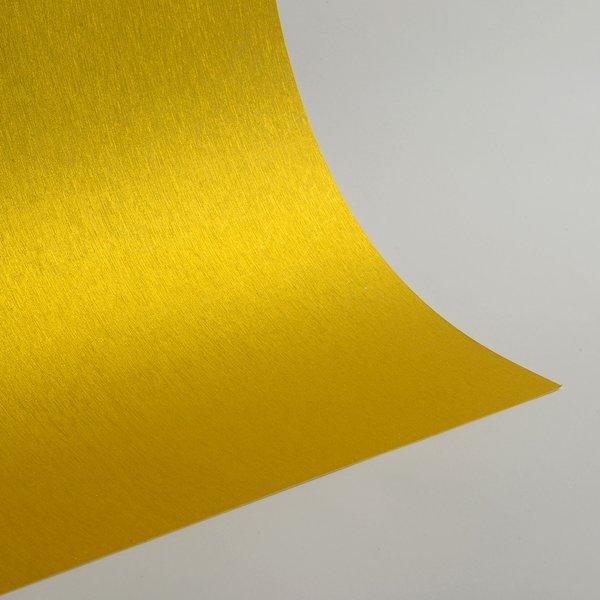 "Satin Glitter Sticky Paper, 12"" x 12"" x 1 sheet, Satin Golden Yellow, SKU# GTS-1212102"