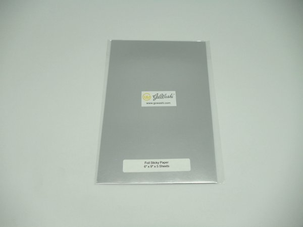 "Foil Sheet with Adhesive Back, 6"" x 9"" x 5 sheets, Silver SKU#: MFS-180S"