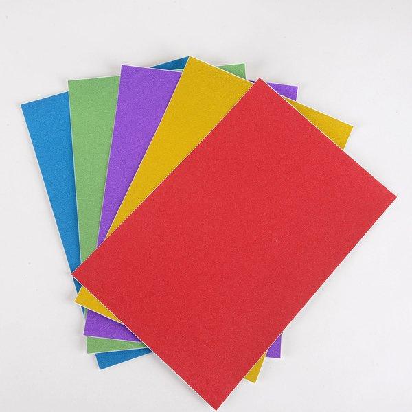 """Ultra Fine Glitter Sticky Paper, Mix Pack(3), 6"""" x 9"""" x 5 sheets, 5 color, SKU# GT-178"""