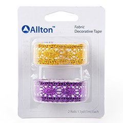 Fabric Decorative Tape, Glitter Lace, SKU: TFB150061