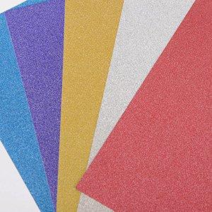 """Ultra Fine Glitter Sticky Paper, Mix Pack, 6"""" x 9"""" x 5 Sheets, SKU# GT-148"""