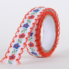 Fabric Decorative Tape, Embroidered, SKU: EM005