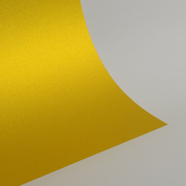 """Ultra Fine Glitter Card Stock, 12"""" x 12"""" x 3 sheets, Golden Yellow, SKU# GC-1212011-3"""