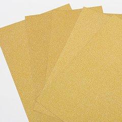 """Ultra Fine Glitter Sticky Paper, 6"""" x 9"""" x 5 Sheets, Gold, SKU# GT-148G"""