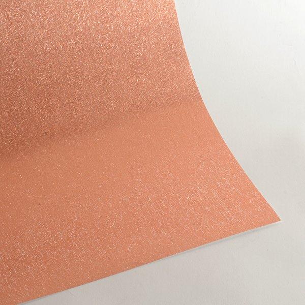 "Satin Glitter Card Stock, 12"" x 12"" x 3 sheets, Satin Rose Gold, SKU# GCS-1212114-3"