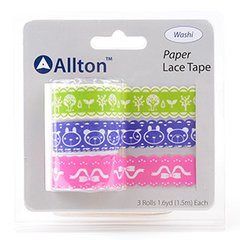 Paper Decorative Tape, Lace, SKU: TPB180034