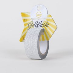 Go Washi Glitter Decorative Tape, Gold, 25mmx10m, SKU: GT-2510S