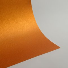 "Satin Glitter Sticky Paper, 6"" x 9"" x 5 sheets, Satin Orange, SKU# GTS-203"