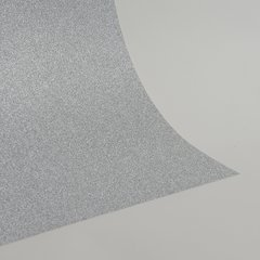"Glitter Card Stock, 12"" x 12"" x 1 sheet, Silver , SKU# GC-1212001"