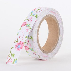 Fabric Decorative Tape, Flower, SKU: FL019