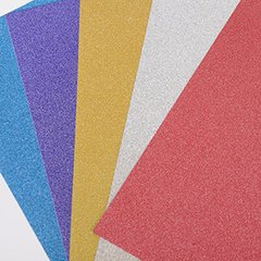 "Ultra Fine Glitter Sticky Paper, Mix Pack, 6"" x 9"" x 5 Sheets, SKU# GT-148"