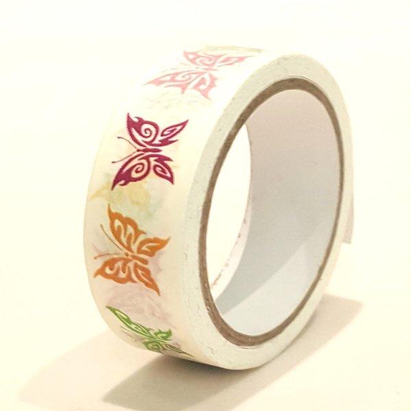 Washi Tape, Butterfly, White, SKU: WT150169