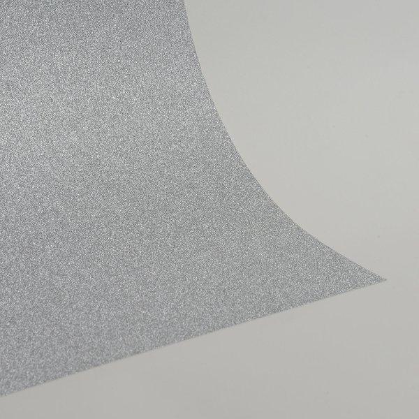 """Ultra Fine Glitter Sticky Paper, 12"""" x 12"""" x 1 sheet, Silver, SKU# GT-1212001"""