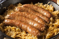 Sold Out! Tues., Sept. 19th: Beer-Braised Brätwurst with Sauerkraut and Kartoffelbrei (Chicken Sausage Available) - ($14 Per Person / Time to Cook: 30 min. / Cook by Day: Friday)