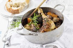 Sold Out! Wed., April 25th: Coq au Vin (Wine Braised Chicken) - ($15 Per Person / Time to Cook: 30 min. / Cook by Day: Friday)