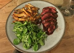 Sold Out! Tues.-Fri. March 20-23rd: Steak Frites w/ Mixed Green Salad...just like in Paris ($16 Per Person / Time to Cook: 30 min.)