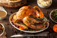 Deadline has passed! Wed., Nov. 22nd : Thanksgiving Special: Air-Chilled Black Heritage Turkey (16lbs - 14-16 people), Herb Stuffing, Mashed Potatoes, Haricot Vert and Cranberry Chutney