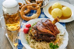 Sold Out! Thur., Sept. 21st: Schweinshaxe (Brined and Braised Bavarian Crispy Pork Shanks) - ($16 Per Person / Time to cook: 45 min. / Cook by Day: Monday)