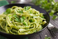 Sold Out! Thur., March 22nd: Homemade Tagliatelle with Wild Stinging Nettle Pesto (Basil Pesto Substitute Available)- Add-ons include: Duck Egg, Pancetta, Chicken Breast ($16 Per Person / Time to Cook: 20 min. / Cook By Day: Sat)