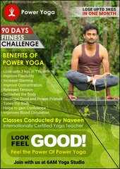 Power Yoga at studio 3 days for 3 months