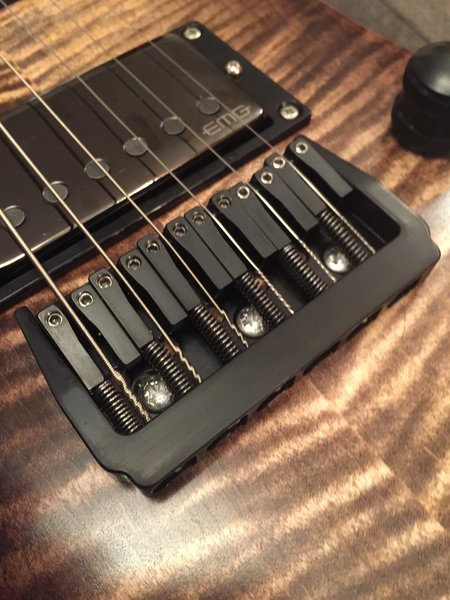 Grainger Hardtail Guitar Bridge - 7 String