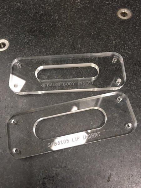 Grainger Ferrule Block Template Insert - 6 String, 10.5mm Spacing