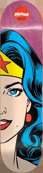 ALMOST HASLAM WONDER WOMAN SPLITFACE DECK-8.38 r7