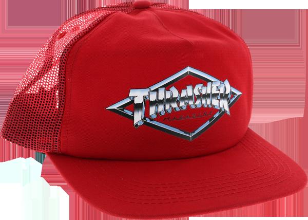 THRASHER DIAMOND EMBLEM MESH HAT - (2 OPTIONS)