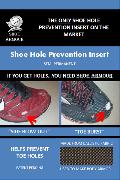 Side Blow-Out / Toe Burst Shoe Hole Prevention Insert