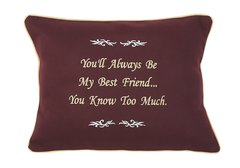 Item # P063   You'll always be my best friend...You know too much.