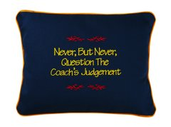Item # P106 Never, but never, question the coach's judgement.