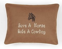 Item # P607   Save a horse ride a cowboy.