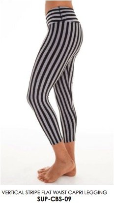 Hard Tail Vertical stripe flat waist capri legging | BodiesbyLeigh ...