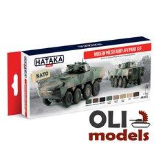 Modern Polish Army AFV Since 2000s Acrylic Paint Set 8x17ml  HATAKA AS72