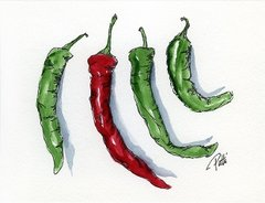 Peppers Notecards (set of 8)