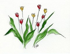Tulip Garden Notecards (set of 8)