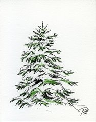 Large Evergreen Notecards (set of 8)