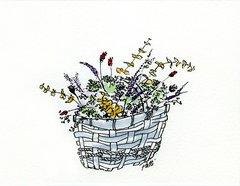 Basket of Flowers Notecards (set of 8)