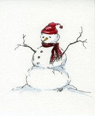 Snowman Notecards (set of 8)