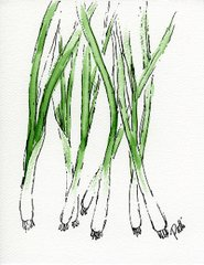 Green Onions - Giclee Reproduction